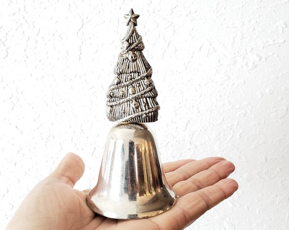 Silver Christmas Tree Bell