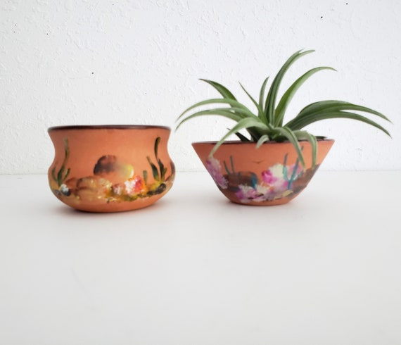 Cute Mini Southwestern Set of 2 Pottery