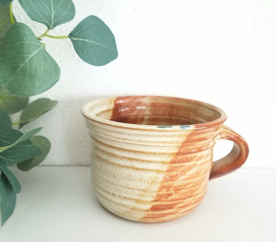 Brown and Cream Ceramic  Cup Planter