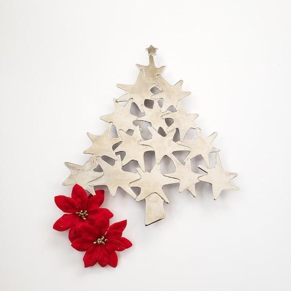 Silver Christmas Tree Trivet