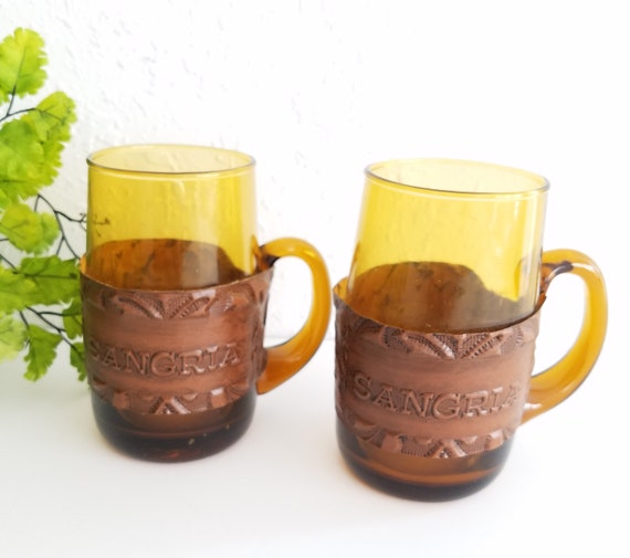 Vintage Set of 2 Sangria Mugs