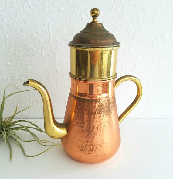 Vintage 2 Toned Belgium Coffee Pot