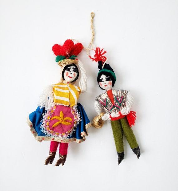 Small Vintage Man/ Woman Festive Portugal Dolls