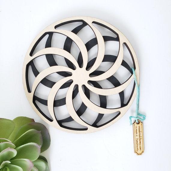 Wood Spiral Trivet/Wall Hanging