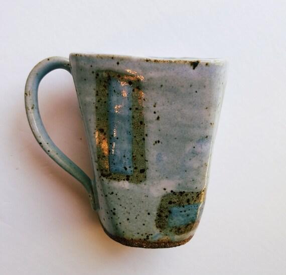 Handmade Sky Blue Ceramic Mug