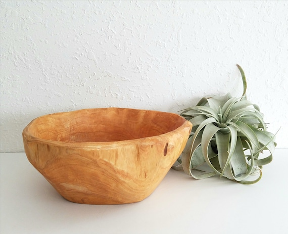 Big Rustic  Wood Bowl