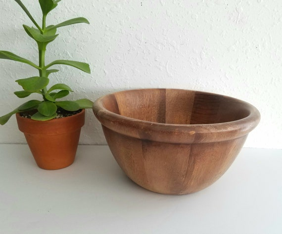 Primitive Deep Acacia Wood Bowl