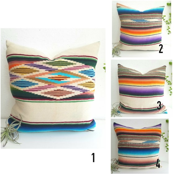 Vintage Serape Southwestern Pillow Covers(inserts not included)