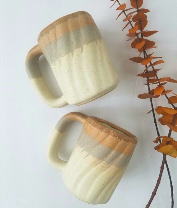 Set of 2 Chunky Southwestern Style Coffee Mugs
