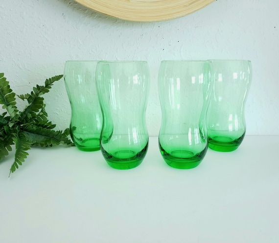 4 Unique MCM Pinstriped Drinking Glasses