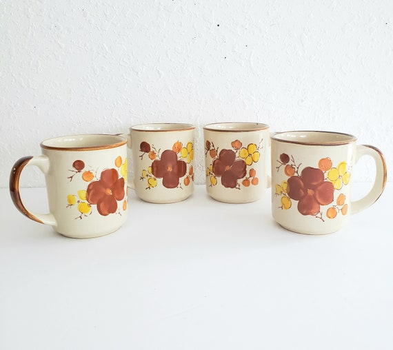 Collectible Stonecrest Tropicana Set of 4 Mugs
