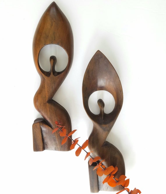 Wood African Seated Women  Uganda