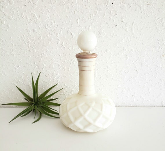 Vintage White Antique  Perfume Bottle