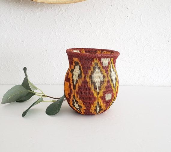Mini Vintage Straw Colorful Vase
