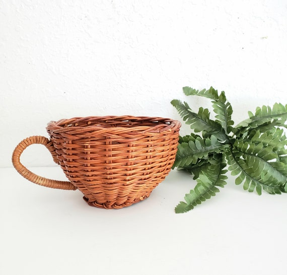 Vintage Brown Wicker Cup