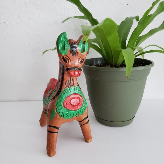 Vintage Ceramic Colorful Southwestern Donkey