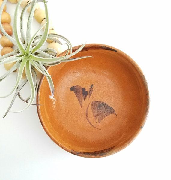 Vintage Round Flat Clay Dish