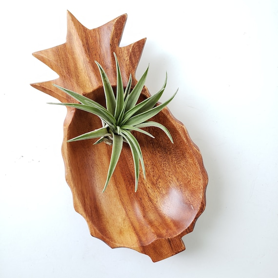 Monkeypod Wood Pineapple Shaped Dish