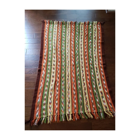Colorful Vintage Handmade Afghan