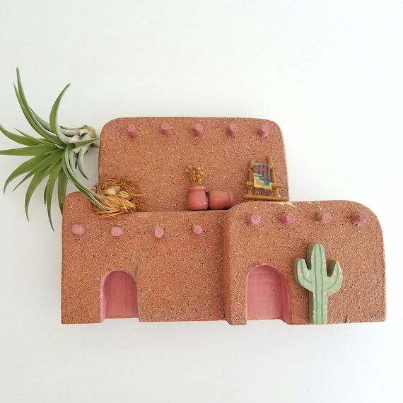 Very Rare! Southwestern Adobe Wall Hanging