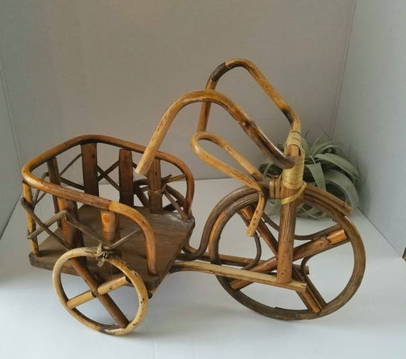 Vintage Wicker 3 Wheel Bicycle