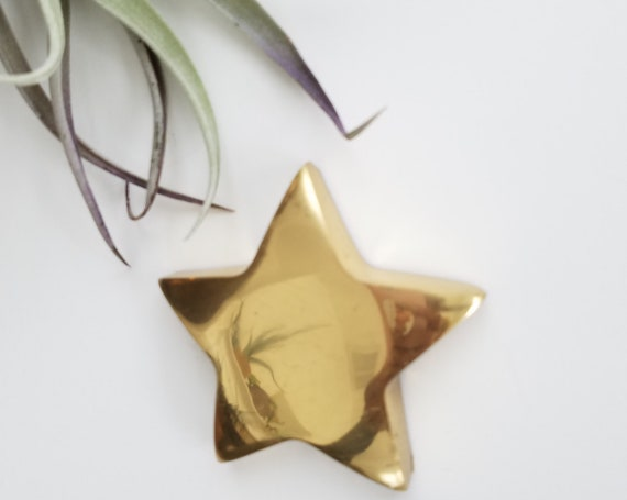 Vintage Brass Small Star  Paperweight