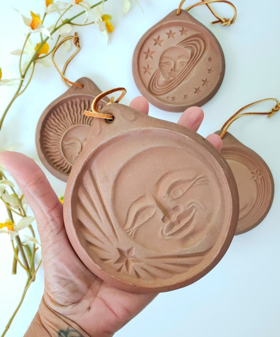 Vintage Set of 4 Terra Cotta Cookie Molds/Wall Hangings
