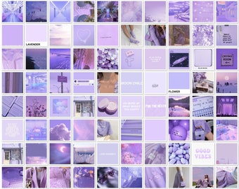 Purple Wall Collage Etsy