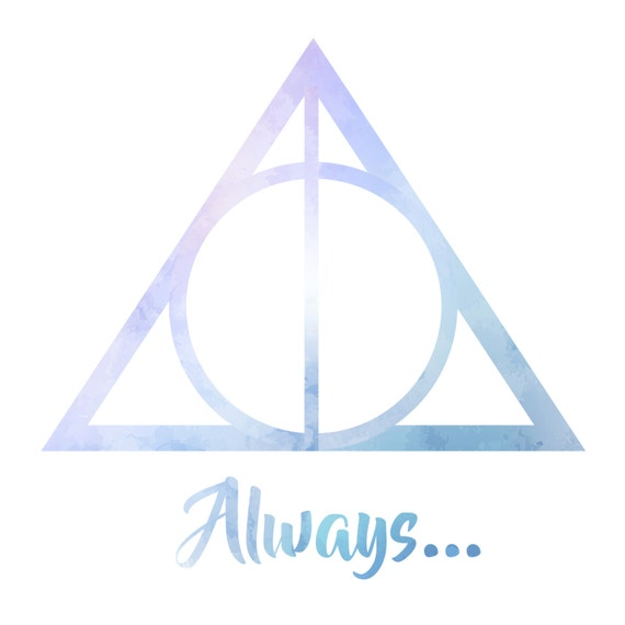Harry Potter Always With Deathly Hallows Symbol Etsy
