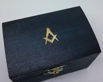 Masonic Emblem Box. Square & Compass. Fathers Day. Freemason. Scottish.
