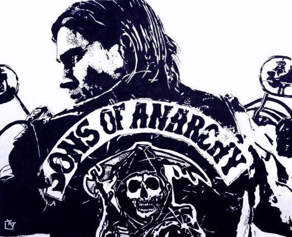 Sons Of Anarchy SOA TV Series Original Artwork