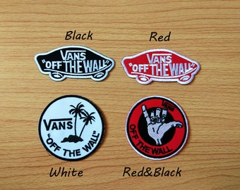 a3db8bb47a69 Selsect Vans off the Wall Sew Iron On Patch Embroidered Skateboard Jacket  Coat Hat Cap T Shirt DIY
