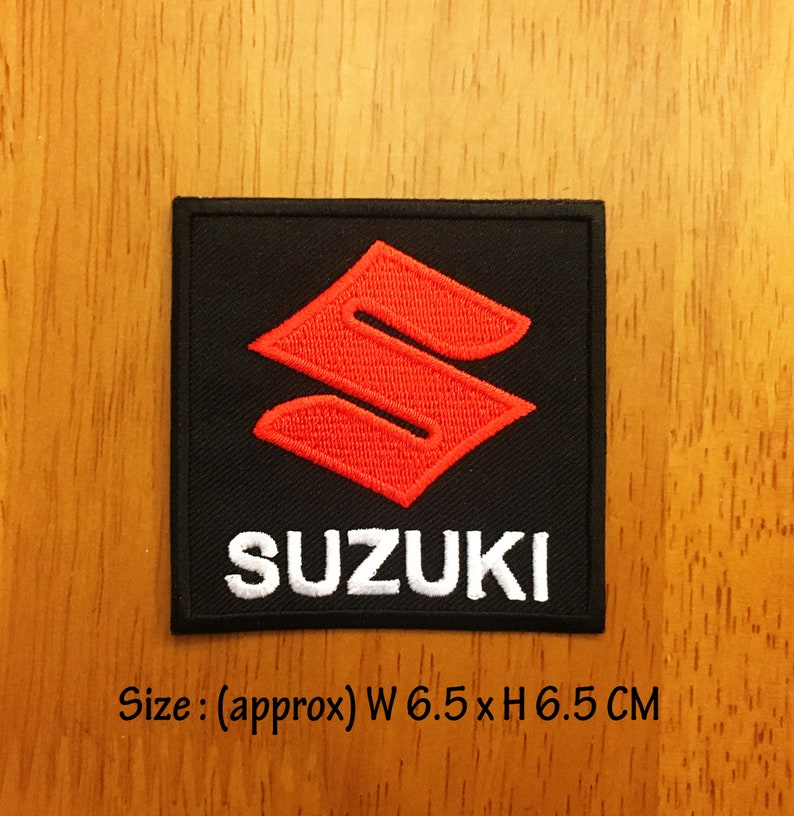 SUZUKI Dirt Bike Motorcycle Biker Racing Logo Embroidered Patch