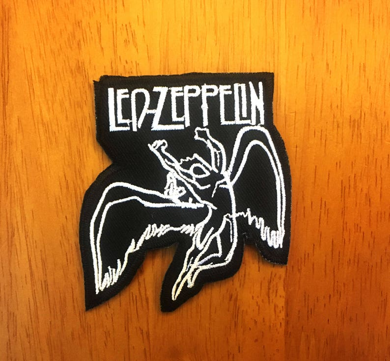Embroidered Patch Iron Sew Logo LED ZEPPELIN rock music band thrash metal punk t