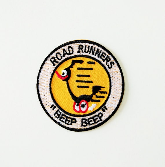 Road Runner Beep Beep Patch Embroidered Iron on Badge Cartoon Bird Sew Car Race