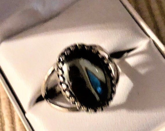 Hematite Gemstone Ring is set in a Silver-plated Crown Bezel.