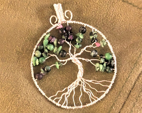 Birthstone Tree of Life Pendants.   This Listing includes July, August, September, October, November and December,.