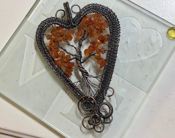 """This Tree of Life made w/ Carnelian was named """"The Setting Sun"""" by the ancient Egyptians."""