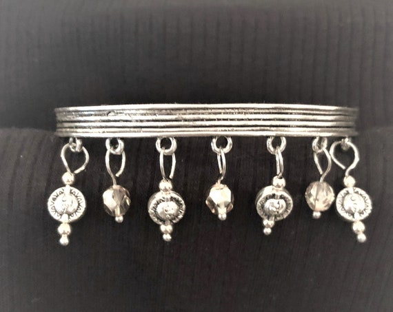 Sun, Moon and Star Bangle Bracelet