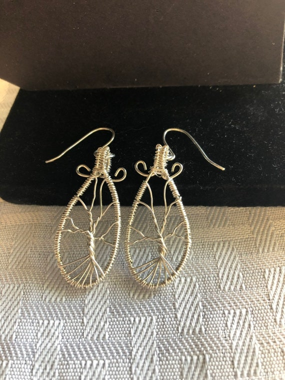 Sterling Silver Tree of Life Earrings.  The Tree of Life symbolizes Eternal Life and Eternal Families.