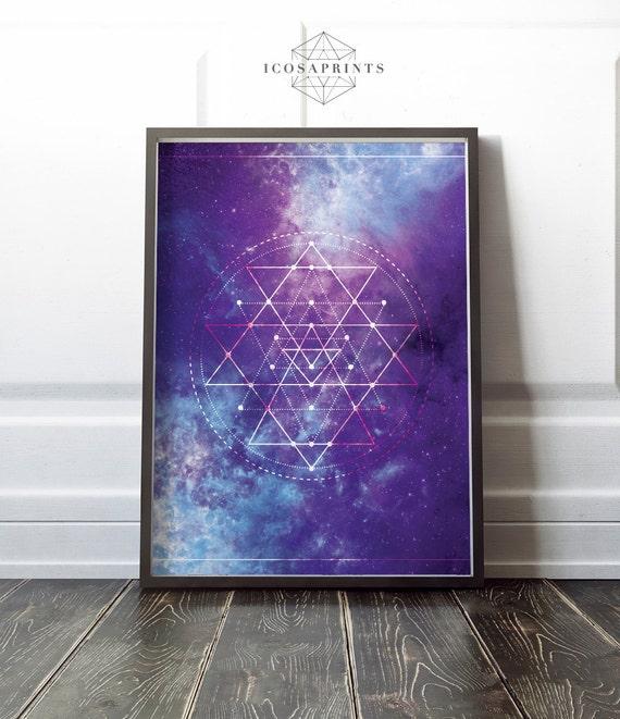 Sacred Universe Galaxy Print Decor Printable Wall Art Poster Etsy