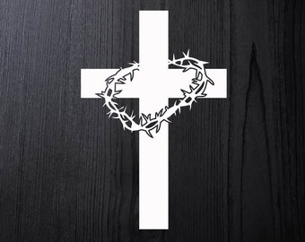 Cross decal with crown of thorns a6d204e54e98