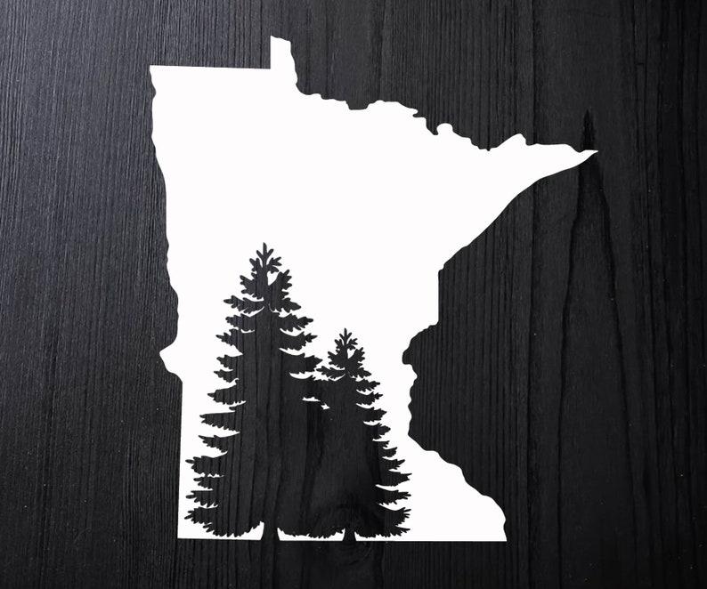 f4bfc8b7ec05 Minnesota Decal Minnesota Car Sticker Minnesota Window