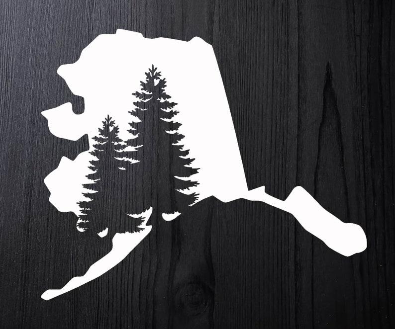a121750db863 Alaska Decal Alaska Sticker Alaska Window Decal Alaska