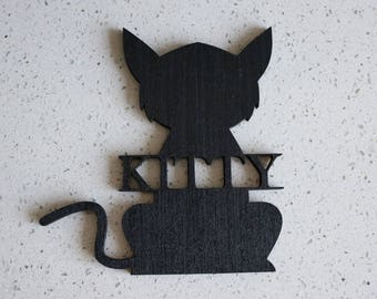 Wood Pet Sign | Cat Name Sign | Wall Hanging | Companion Sign | Pet Lovers | Paintable | Cat Gift | Animal Lovers Gift