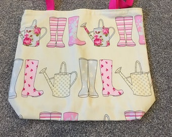 Wellies and Watering Cans Handmade Tote