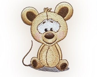 Cute Mouse Embroidery Design