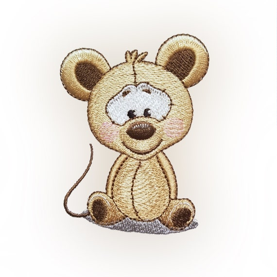Cute Mouse Embroidery Design Etsy