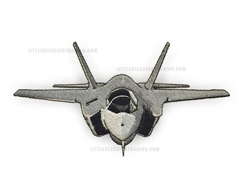 F35 Fighter Jet Airplane Embroidery Design
