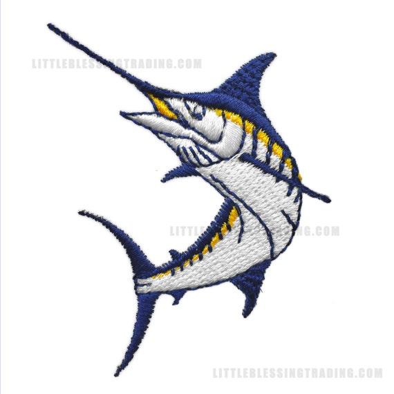 Diseño de bordado de pescado Marlin   Etsy